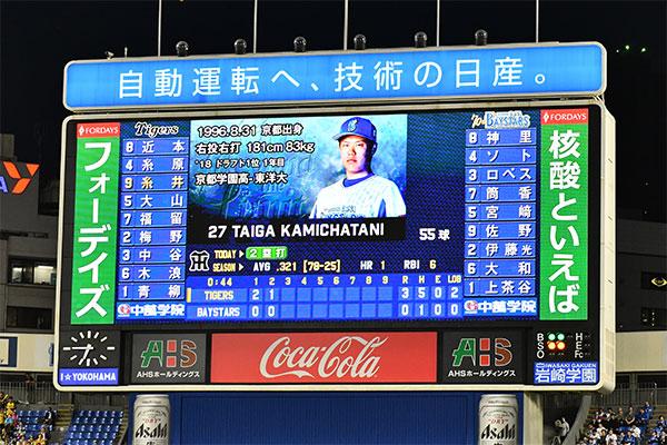 横浜スタジアム バックスクリーン 両サイドビジョン