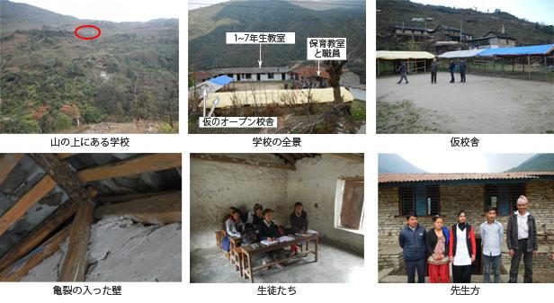 ネパールの小中学校の校舎再建
