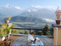 ネパールの美しい山々